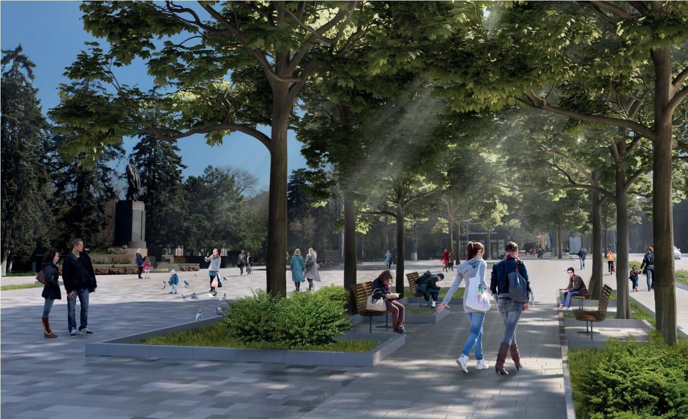 В Ростове показали дизайн-проект благоустройства Большой Садовой