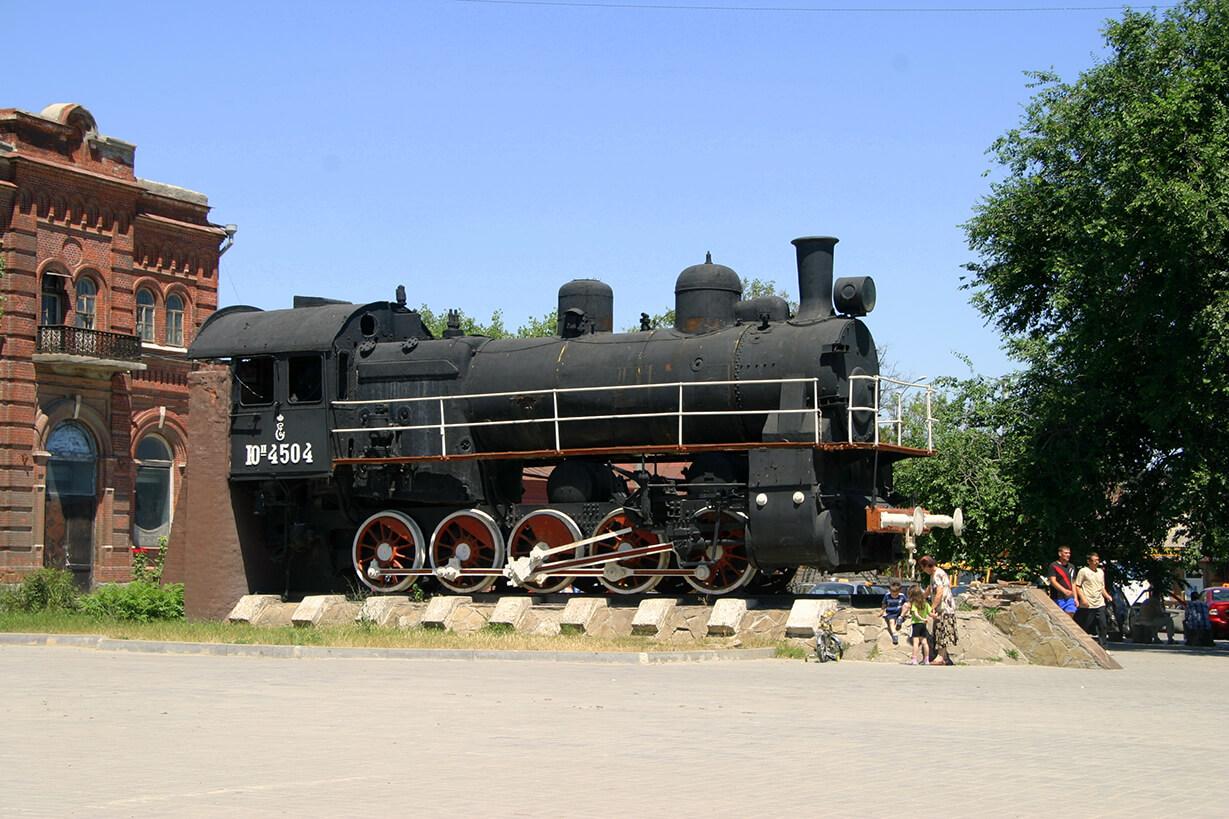 Памятник железнодорожникам, принимавшим участие в разгроме белогвардейцев (Паровоз)